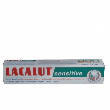 Lacalut Sensitiv Pasta do zębów 75 ml